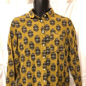 Madewell 1937 Blouse Top Mustard and Floral